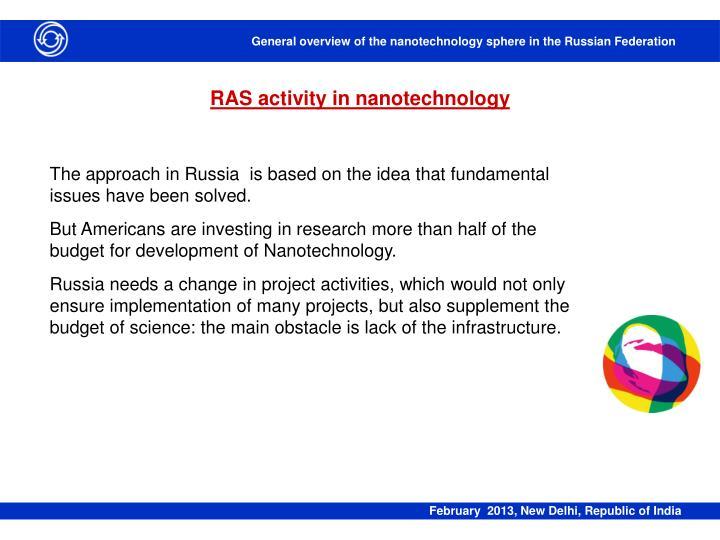 RAS activity in nanotechnology