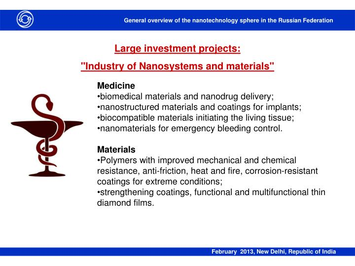 Large investment projects: