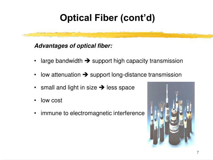 Optical Fiber (cont'd)
