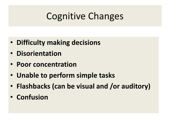 Cognitive Changes