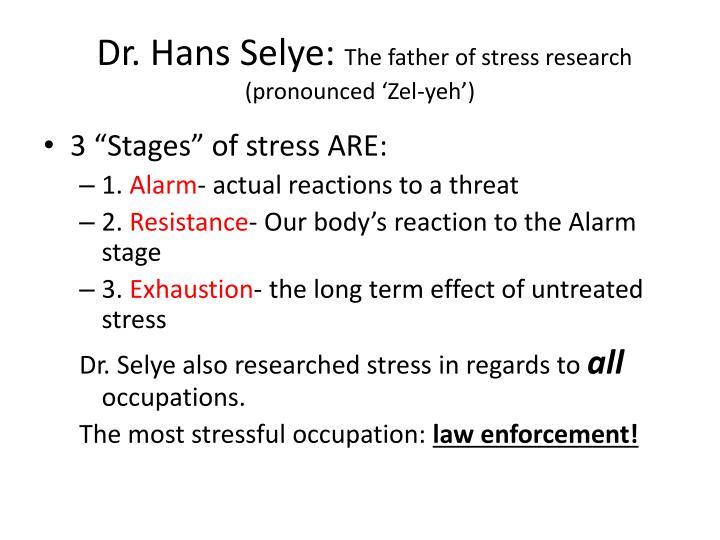 Dr. Hans Selye: