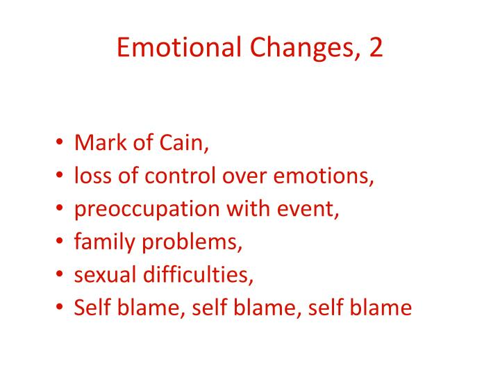 Emotional Changes, 2