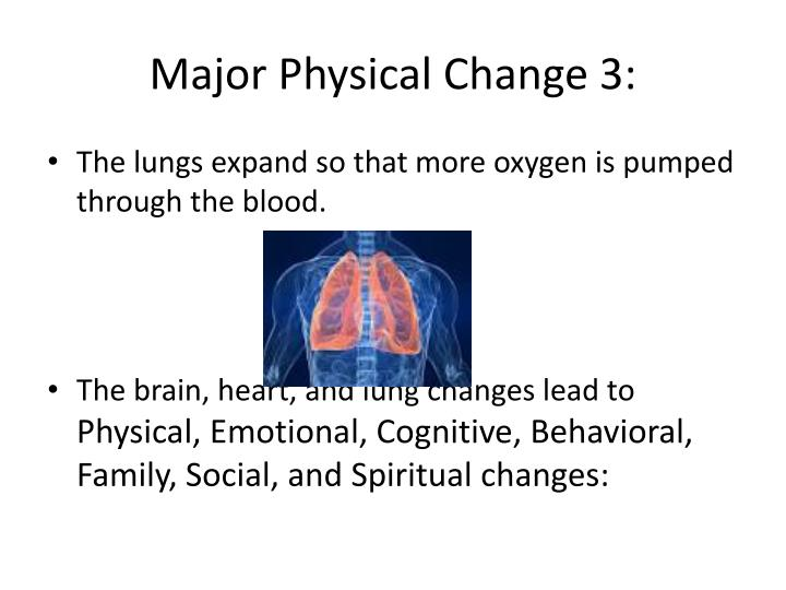 Major Physical Change 3: