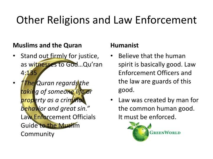 Other Religions and Law Enforcement