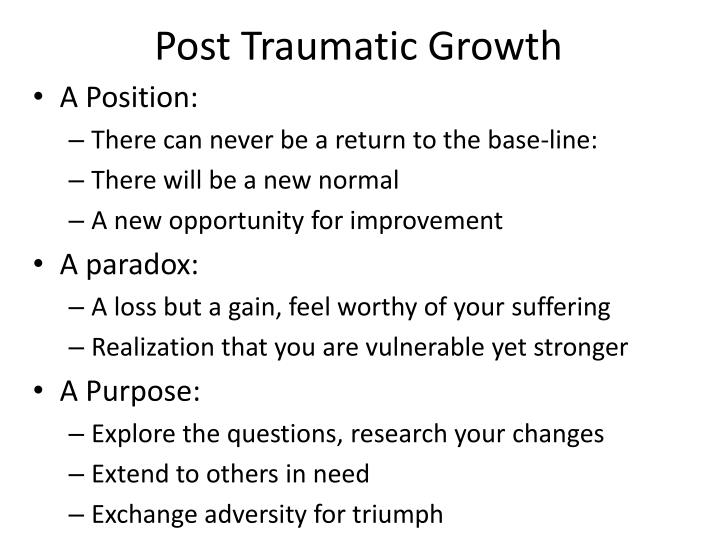 Post Traumatic Growth
