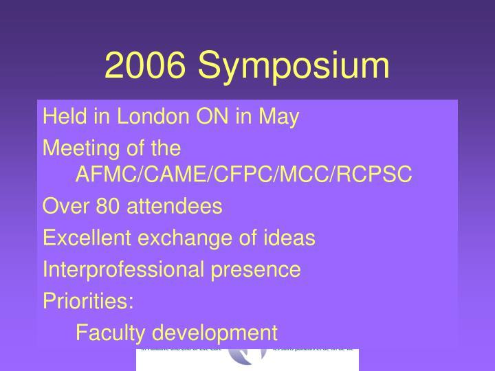 2006 Symposium