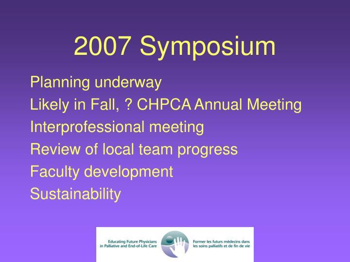 2007 Symposium
