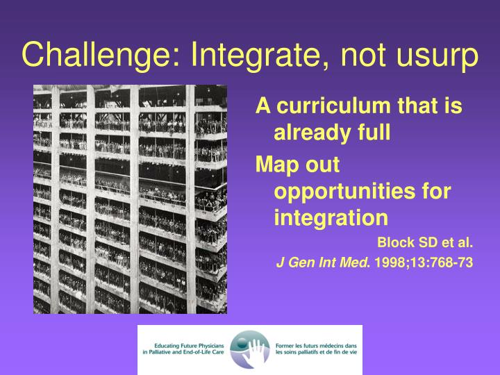A curriculum that is already full