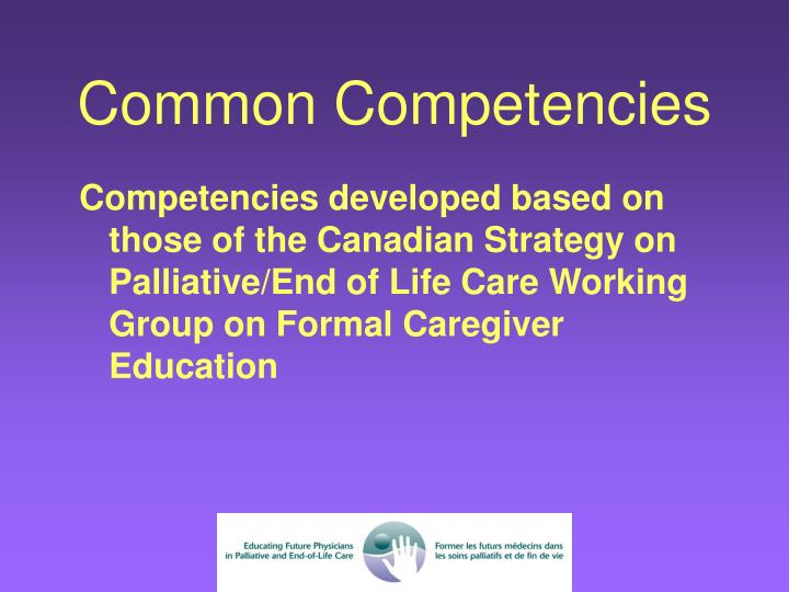 Common Competencies