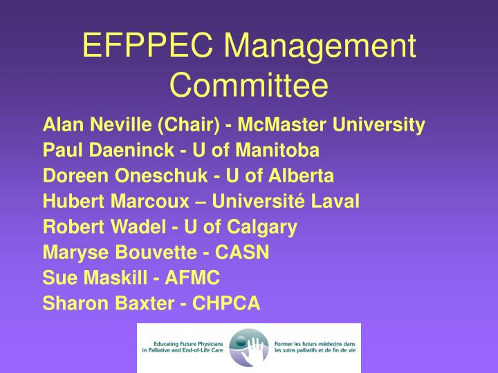 EFPPEC Management Committee