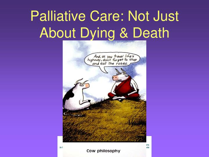 Palliative Care: Not Just About Dying & Death