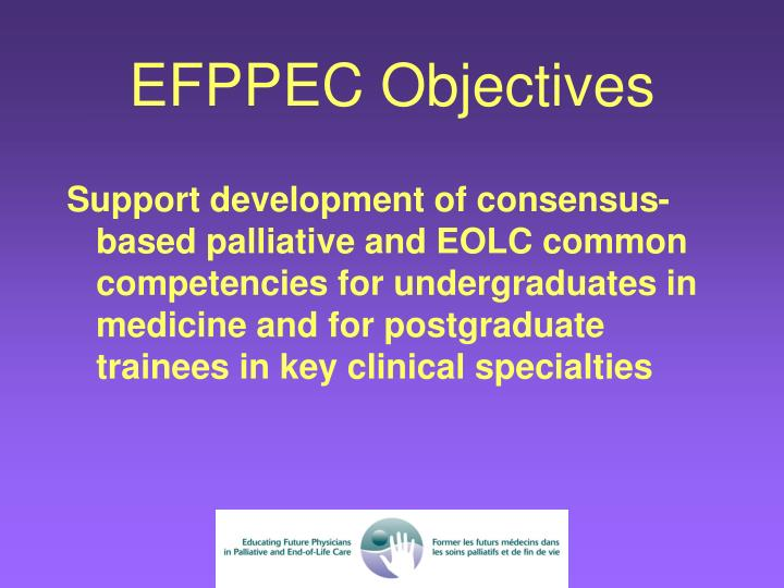 EFPPEC Objectives