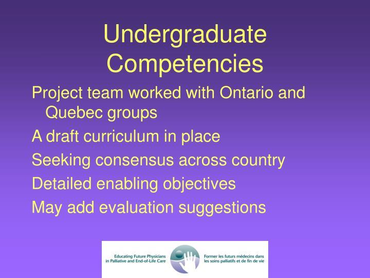 Undergraduate Competencies