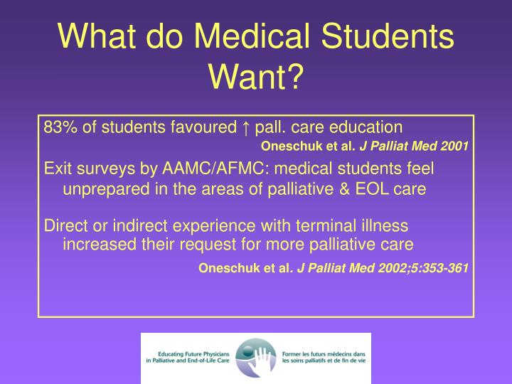 What do Medical Students Want?