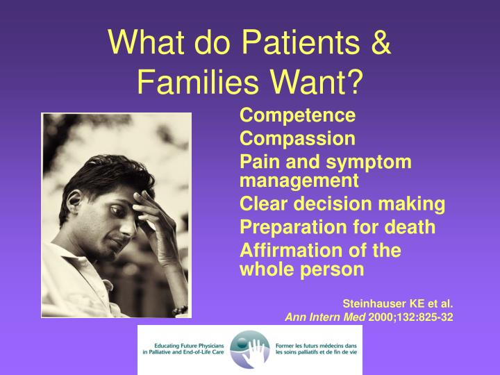 What do patients families want