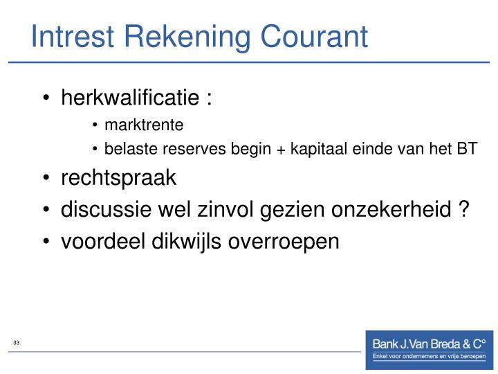 Intrest Rekening Courant