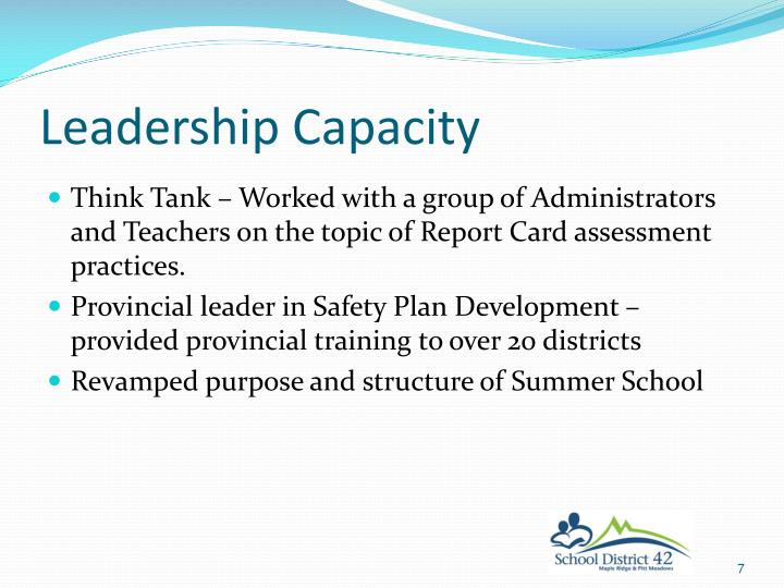 Leadership Capacity