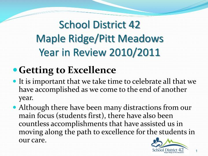 School district 42 maple ridge pitt meadows year in review 2010 2011
