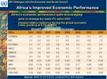 africa s improved economic performance