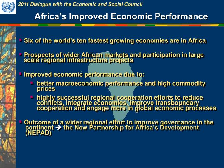 Africa's Improved Economic Performance