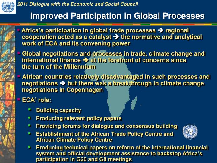 Improved Participation in Global Processes