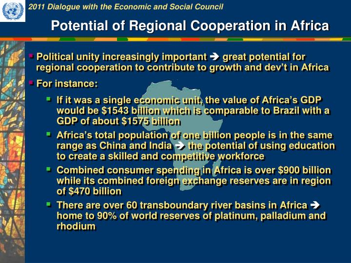 Potential of Regional Cooperation in Africa