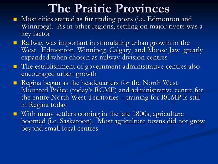 The Prairie Provinces