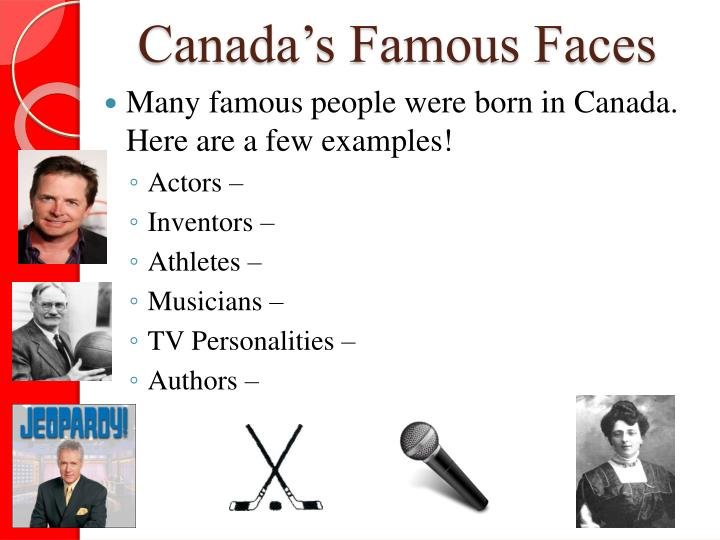 Canada's Famous Faces