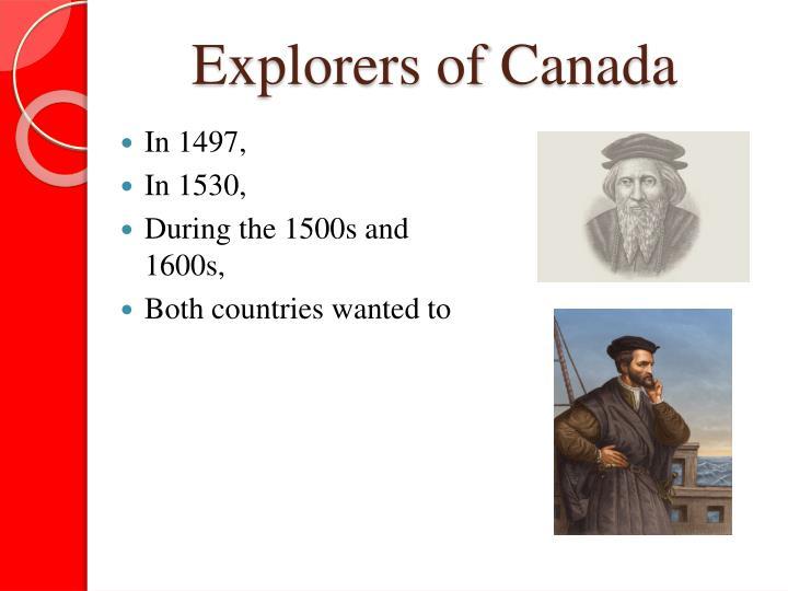 Explorers of Canada