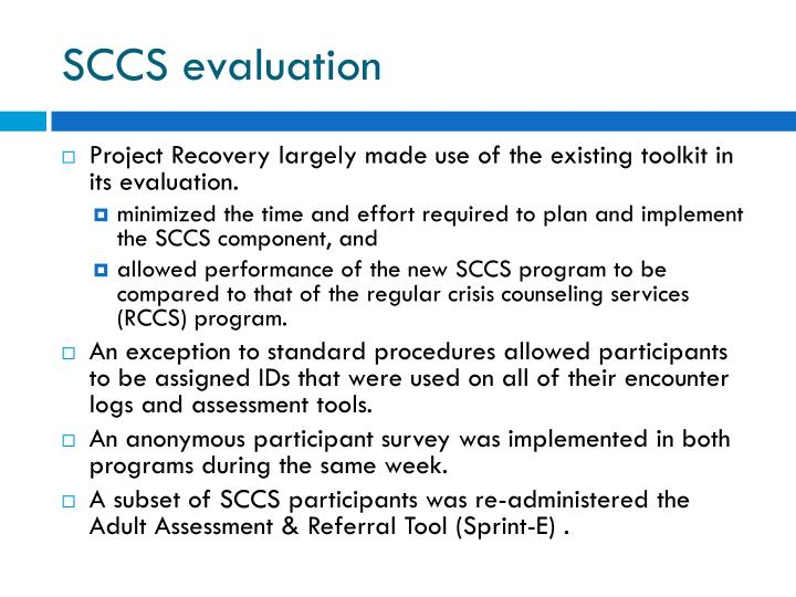 SCCS evaluation