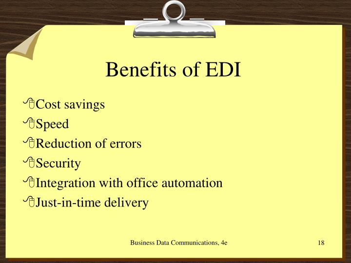 Benefits of EDI