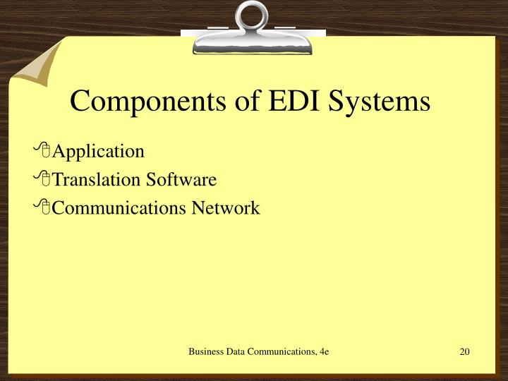 Components of EDI Systems