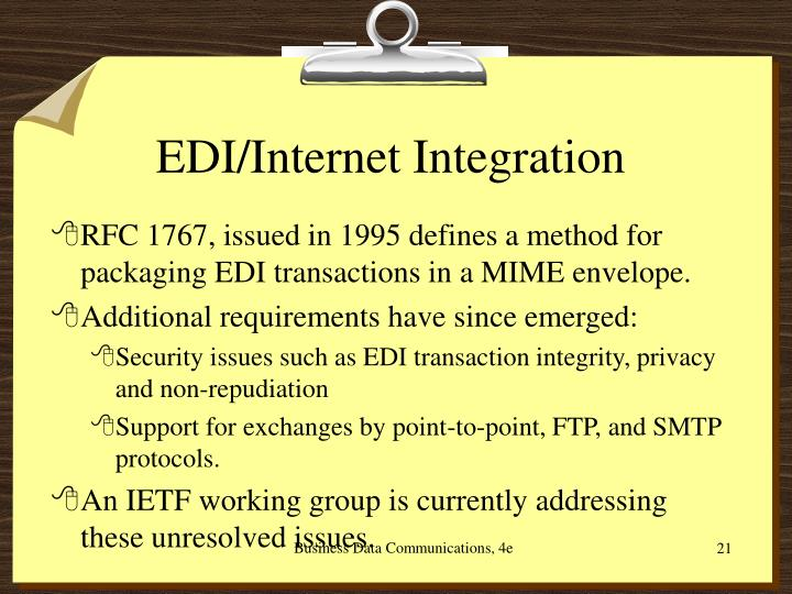 EDI/Internet Integration