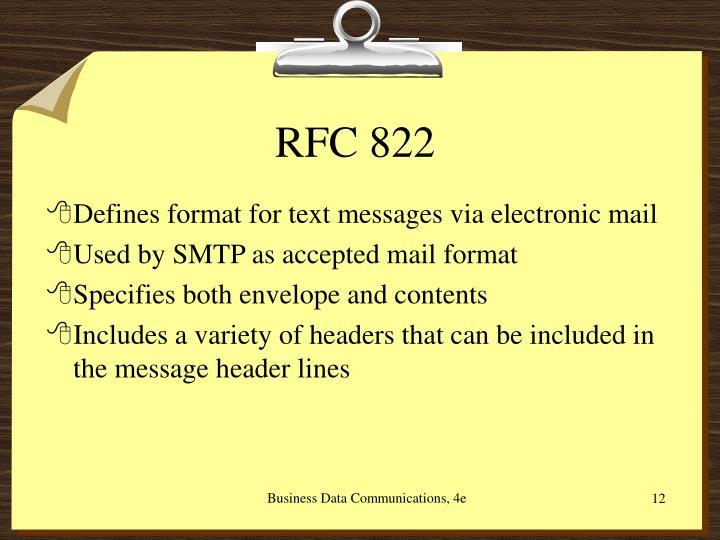 RFC 822