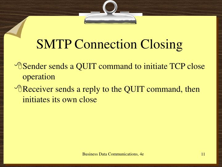SMTP Connection Closing