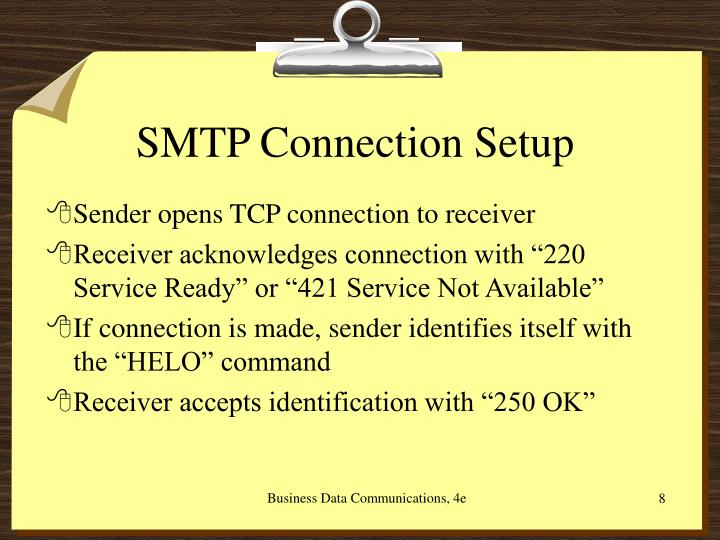 SMTP Connection Setup