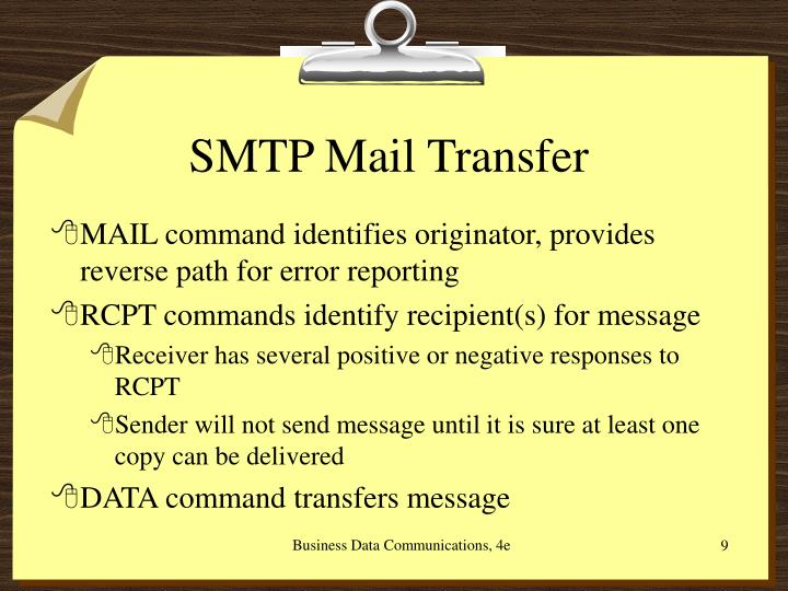 SMTP Mail Transfer