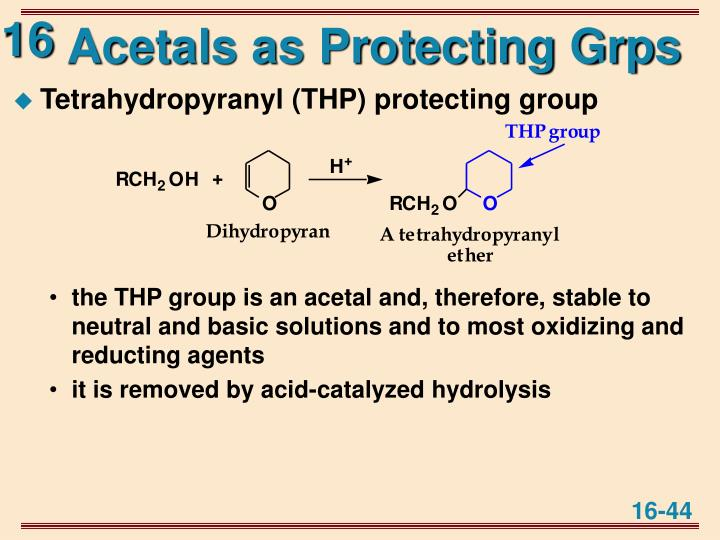 Acetals as Protecting Grps