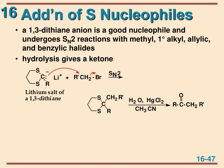 Add'n of S Nucleophiles