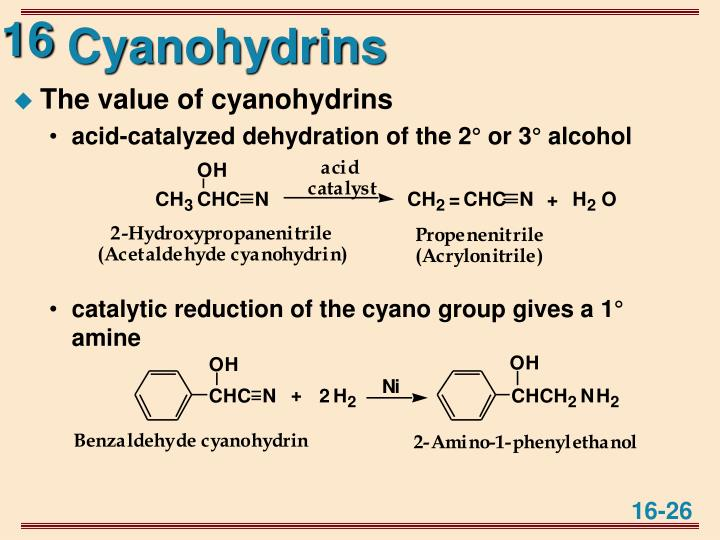 Cyanohydrins