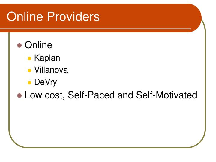 Online Providers