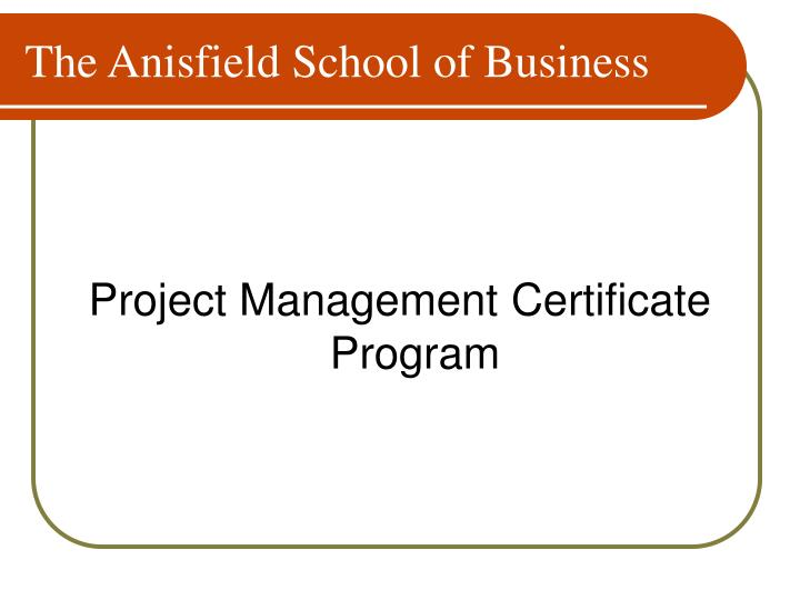 The Anisfield School of Business