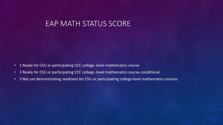 EAP Math Status Score