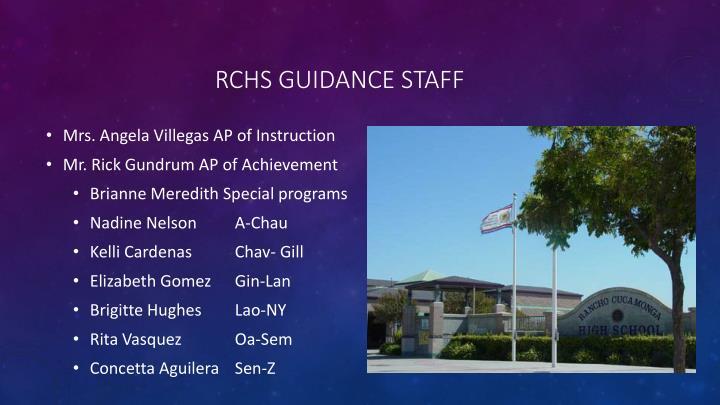 RCHS Guidance staff