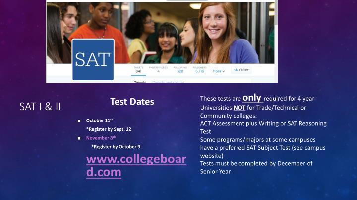 SAT I & II