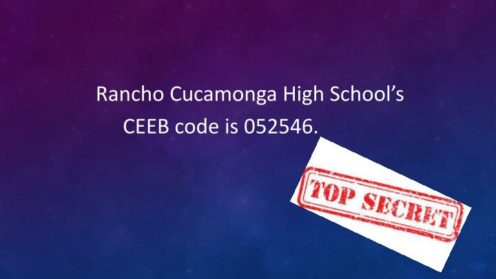 Rancho Cucamonga High School's