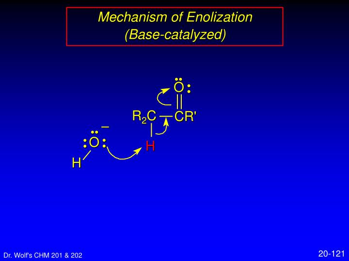 Mechanism of Enolization