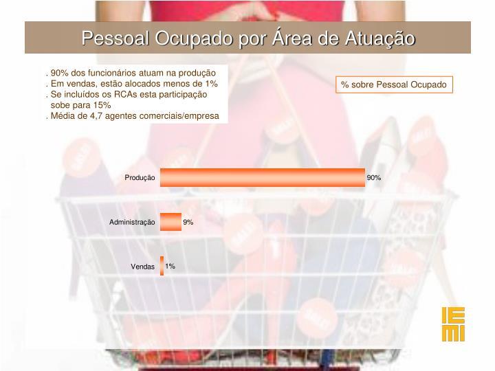 Pessoal Ocupado por Área de Atuação