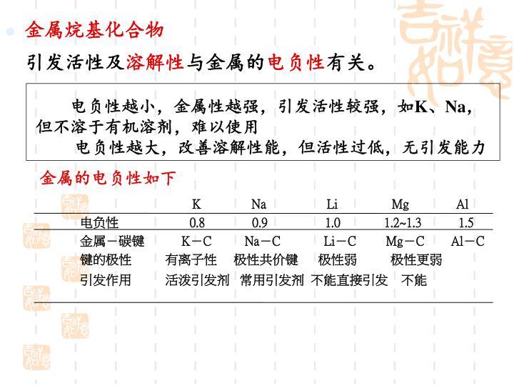 金属烷基化合物