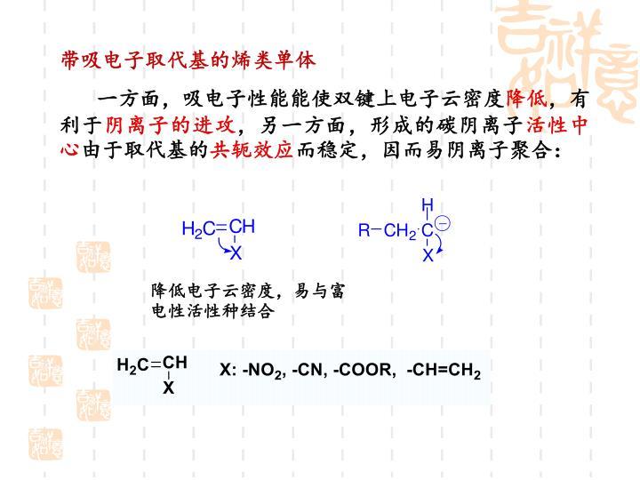 带吸电子取代基的烯类单体